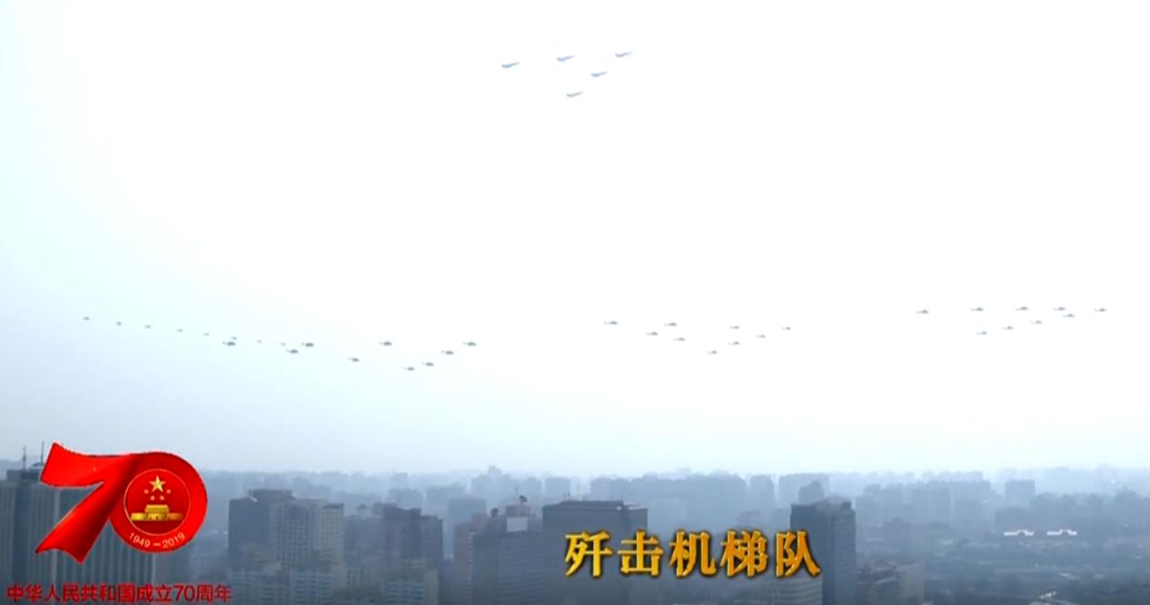 2019国庆阅兵上我国空军的雄姿